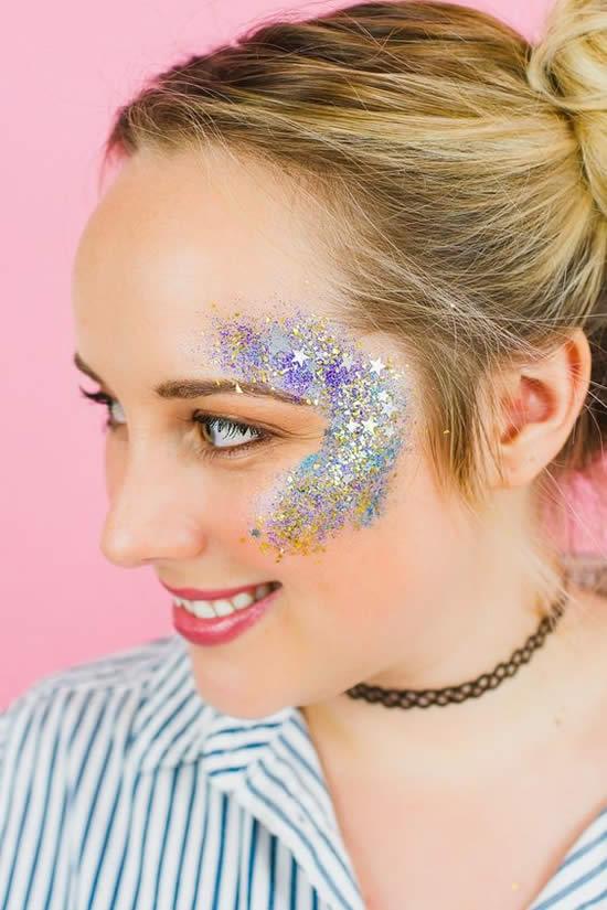 Maquiagem com Glitter para Carnaval