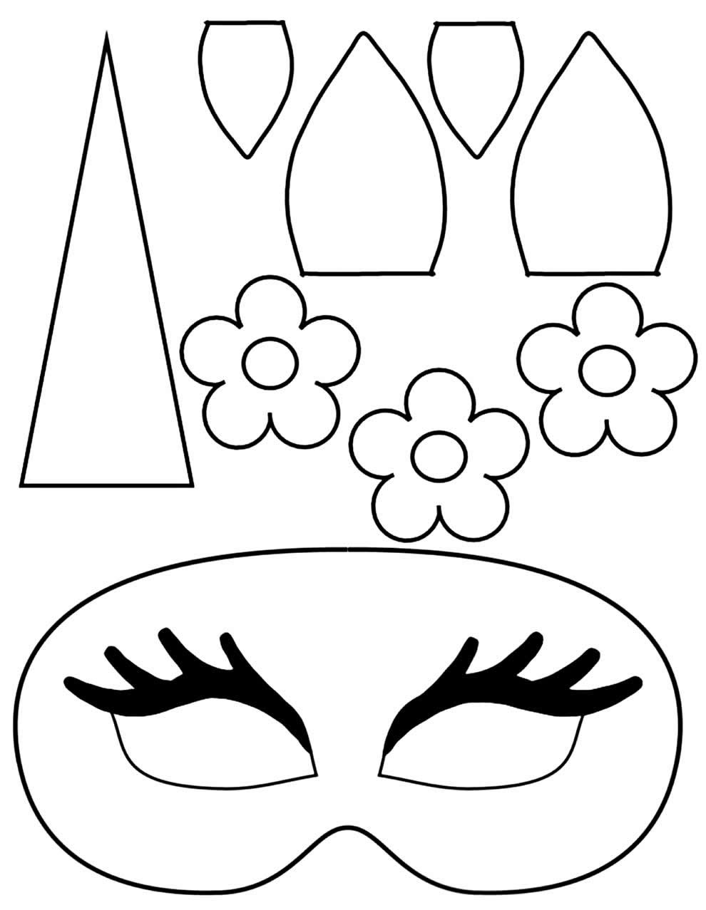 Moldes de máscara de unicórnio