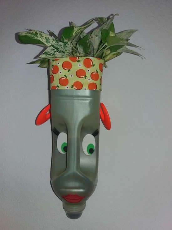 Vasos Criativos com Garrafas PET