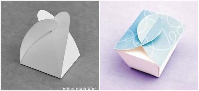 Caixinha de papel para doces