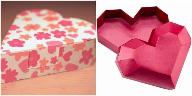 Caixinha coração de papel