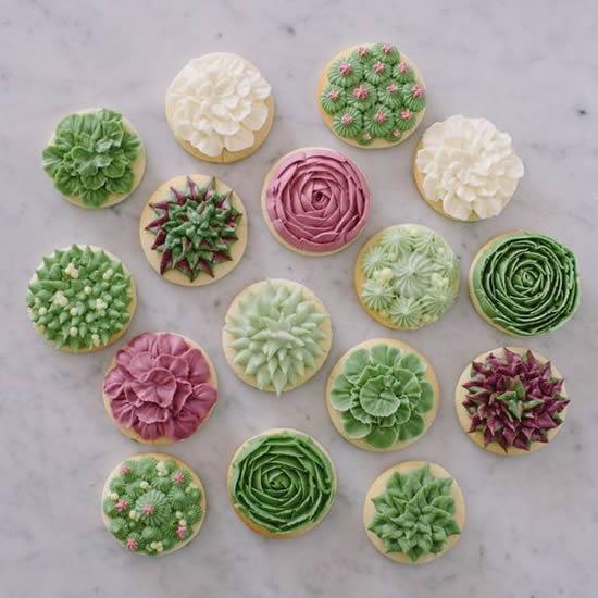 Cupcakes Decorados para Festa Cactos