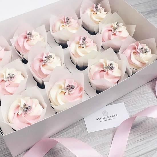 Cupcakes Decorados para Casamento