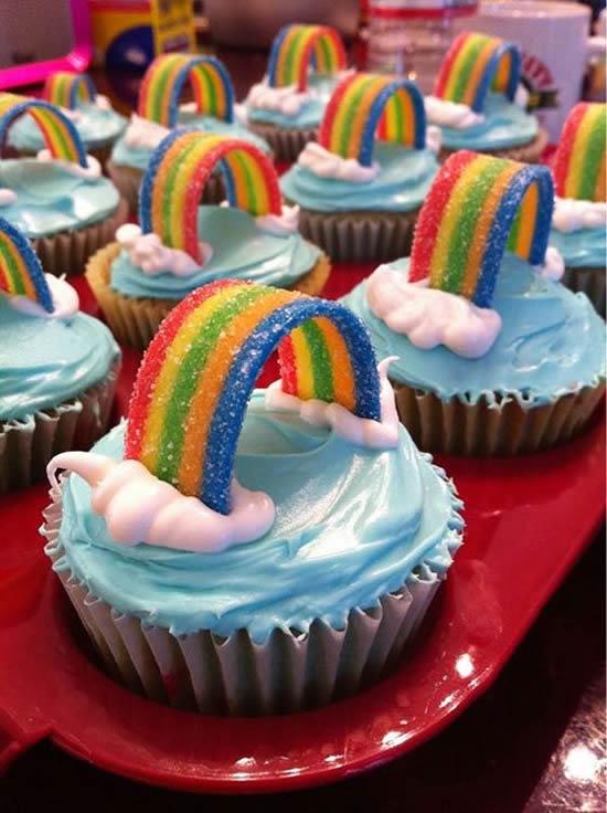 Como fazer Cupcake Arco-íris