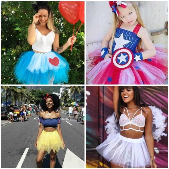 Fantasia Com Saia De Tule Para Carnaval Pop Lembrancinhas