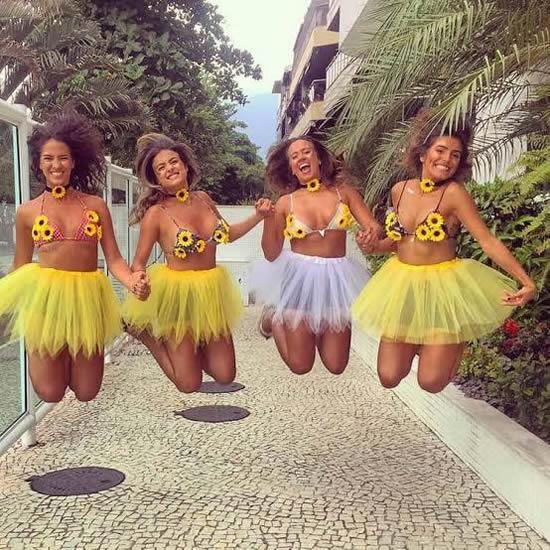 Fantasia de Girassol para Carnaval