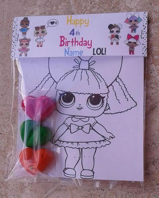 Lembrancinha para Festa Boneca Lol