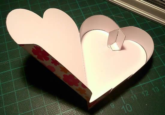 Caixinha de Coração com Molde