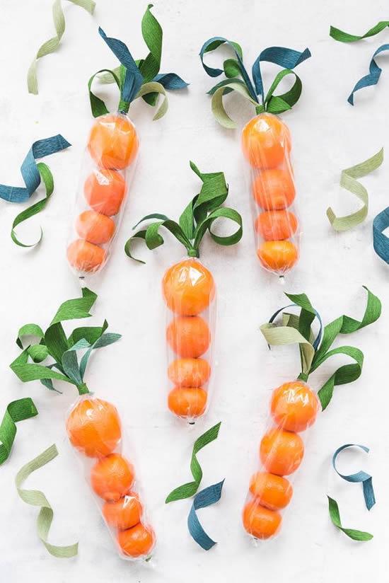 Lembrancinha de Cenoura para Páscoa