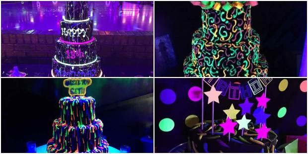 Bolos Decorados para Festa Neon