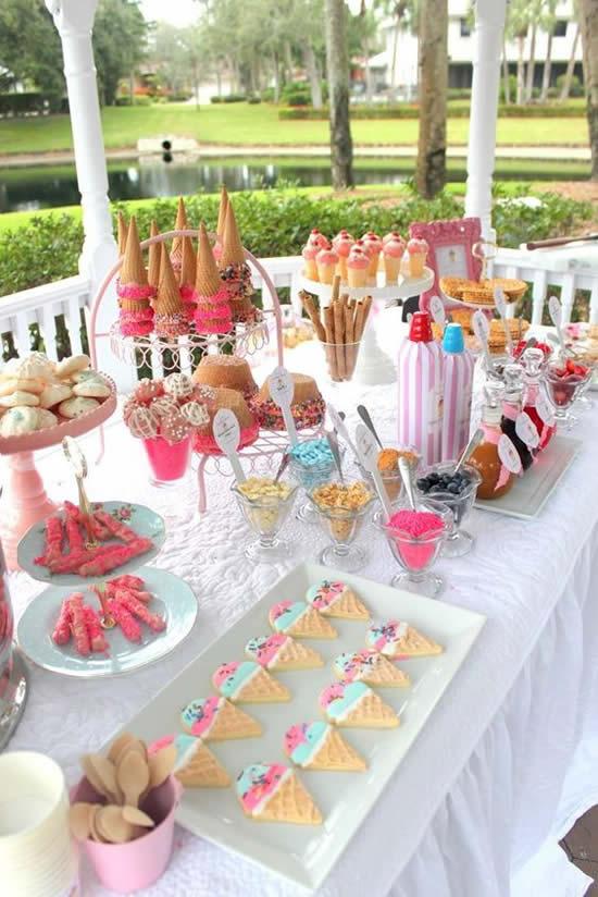 Buffet Colorido para Festa Infantil