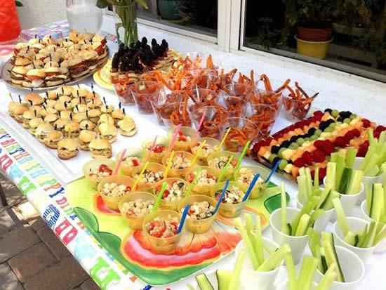Buffet para Festa Infantil Super Variado e Lindo