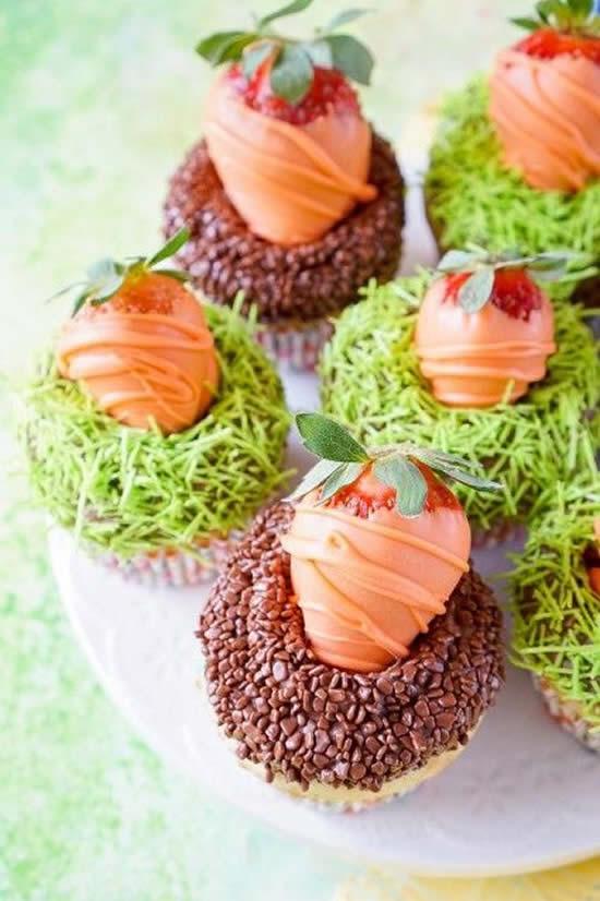 Cupcake de Cenoura para Páscoa