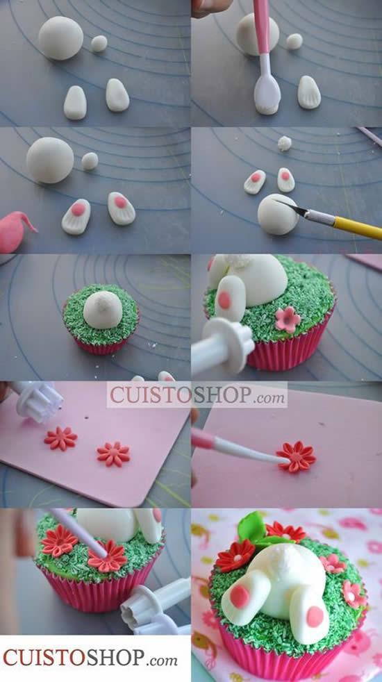 Cupcake de Coelhinho para Páscoa