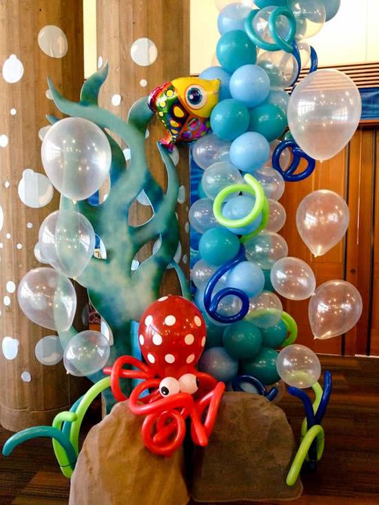 Decoração para Festa Fundo do Mar