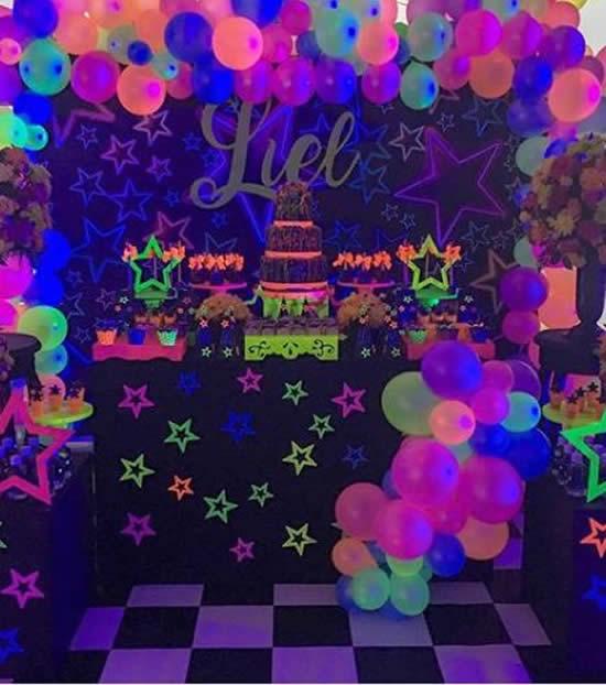 Decoração para Festa Neon