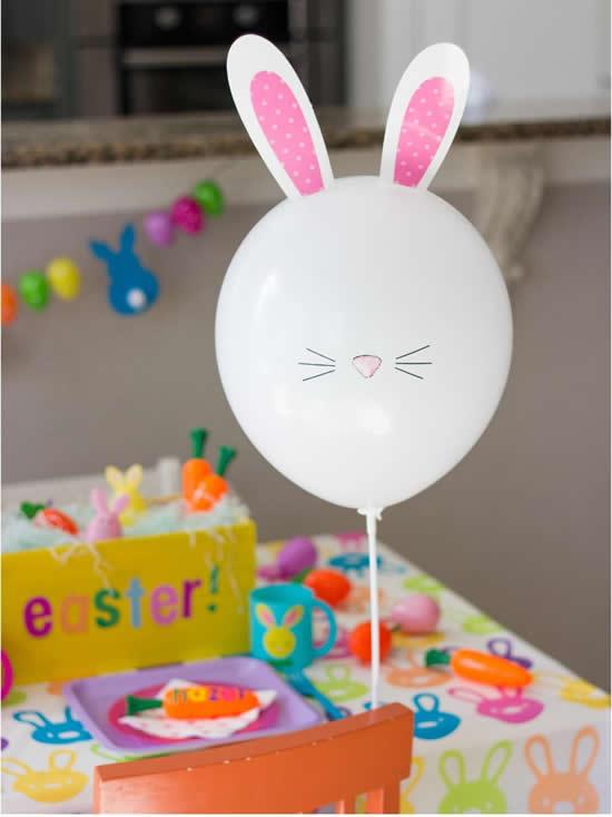 Balão Decorado para Páscoa