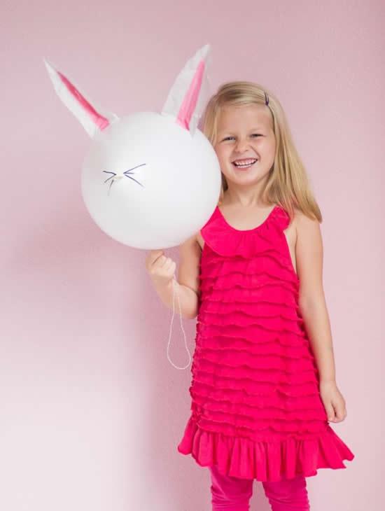 Lindo Balão Coelhinho para Páscoa