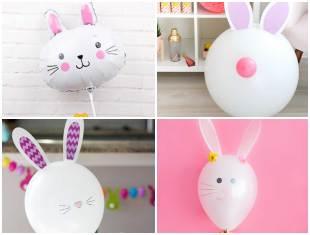 Coelhinhos Lindos com Balões