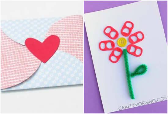 Cartão lindo para o Dia das Mães - Várias ideias