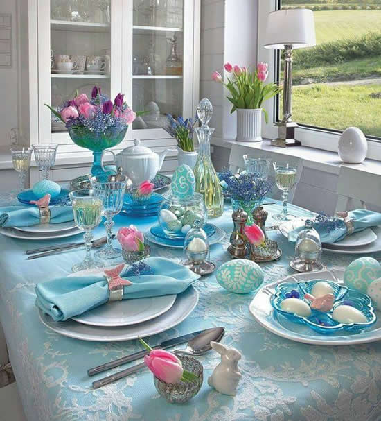 Decoração de Mesa para Almoço de Páscoa