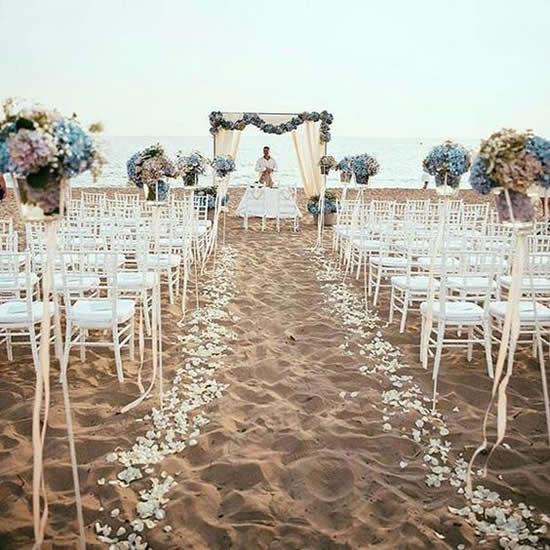 Decorações Lindas para Casamento na Praia