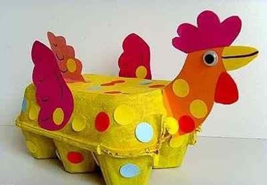 Decoração com Caixa de Ovos