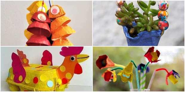 20 Artesanatos com Caixa de Ovos: