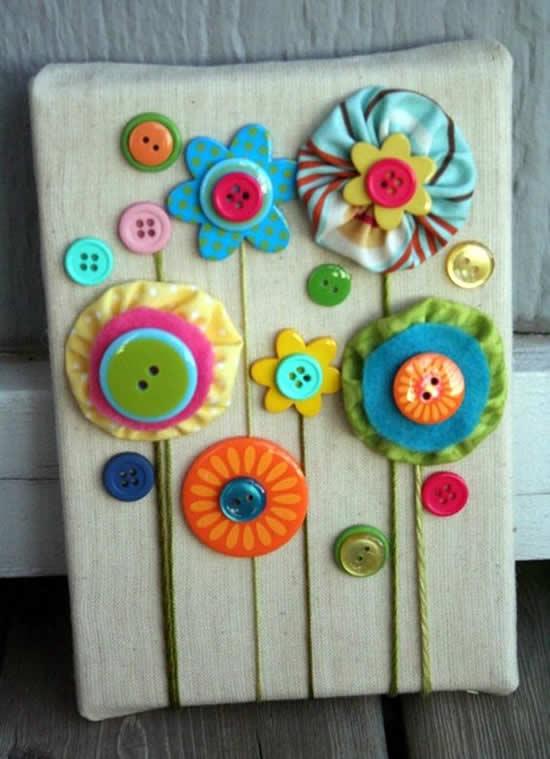Decoração Criativa com Botões Coloridos