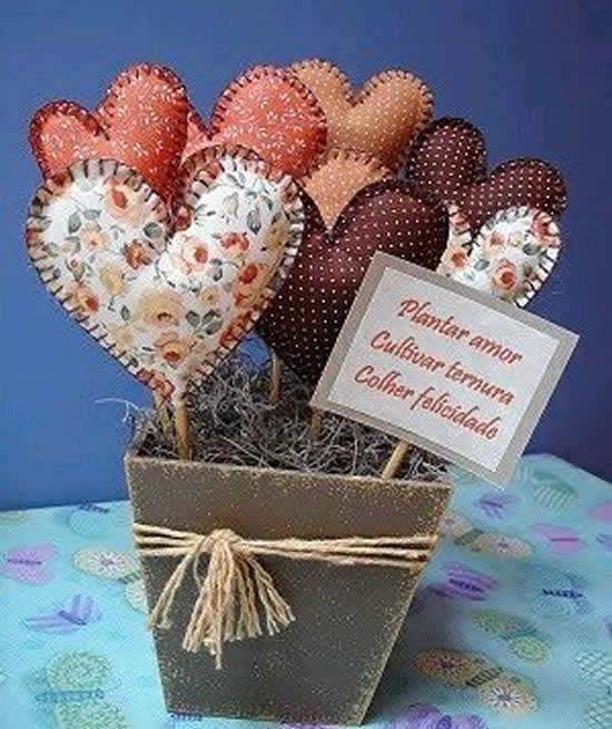 Ideias com Tecido para Dia dos Namorados