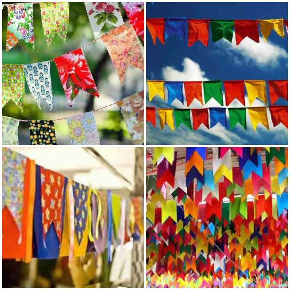 Bandeirinhas para Festa de São João
