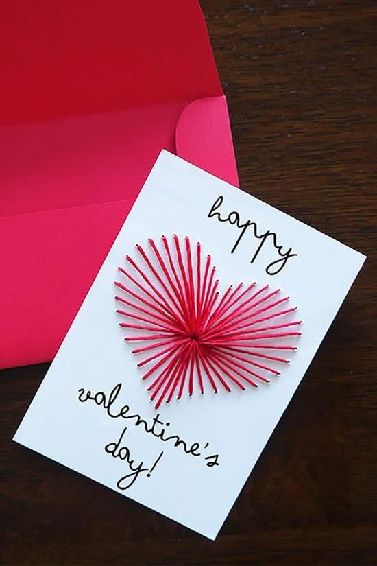 Cartão com Papel para Dia dos Namorados