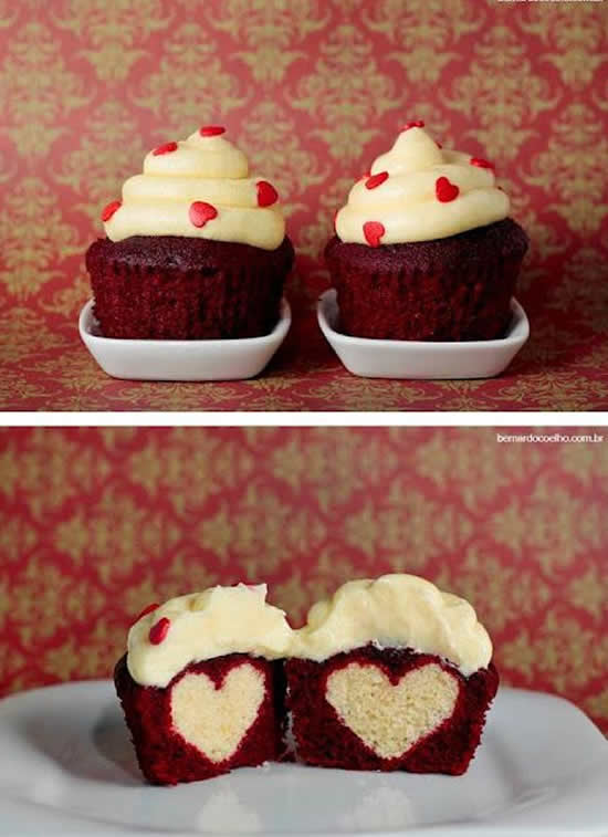 Cupcakes para Dia dos Namorados