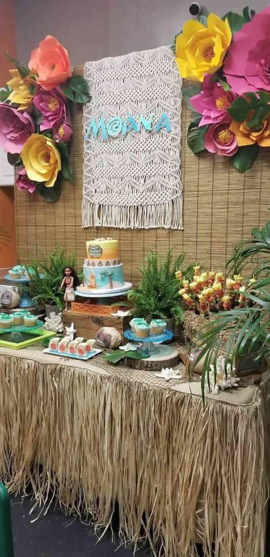 20 inspirações de Decoração para Festa Moana