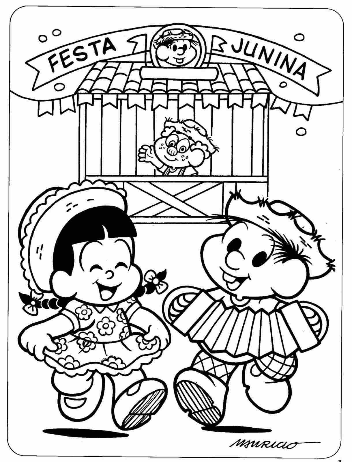 Desenhos de São João Turma da Mônica