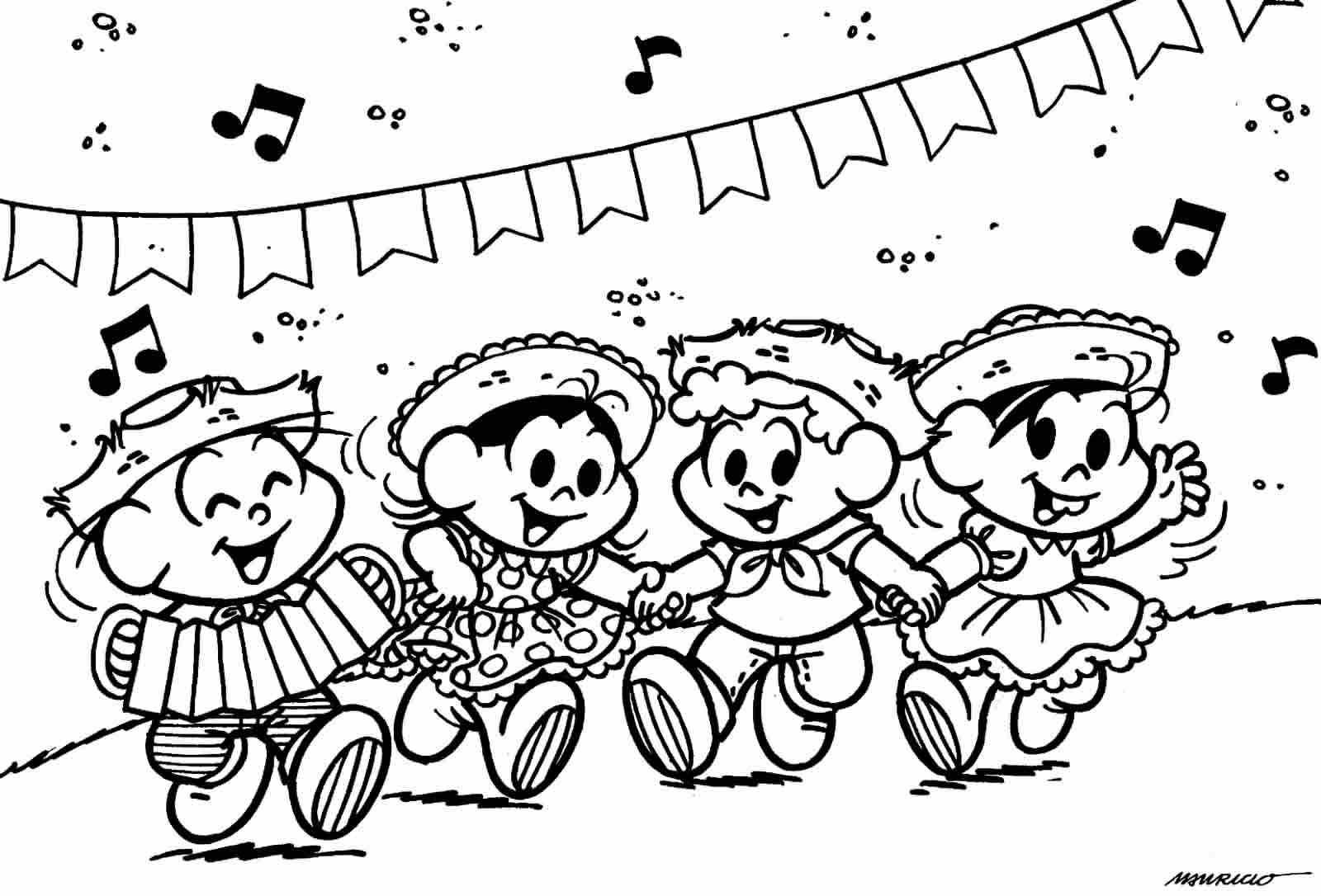 Desenhos de Turma da Mônica Festa Junina
