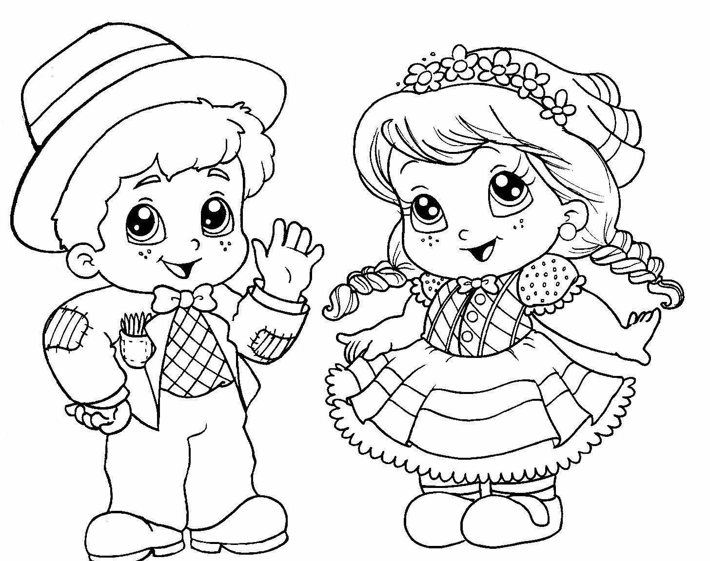 Desenhos de Festa Junina para Imprimir e Colorir