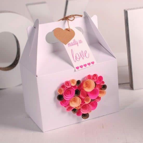 Embalagem com Papel para Dia dos Namorados