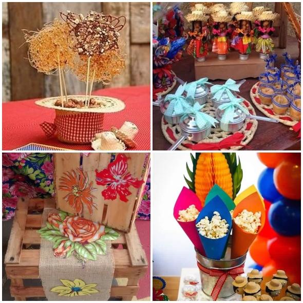 Enfeites para Decoração de Festa Junina