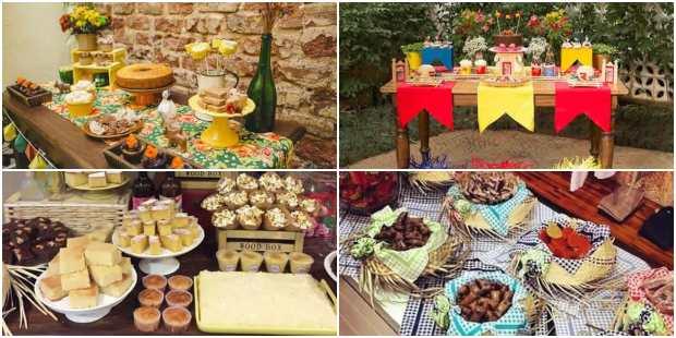 Mesas Decoradas para Festa Junina
