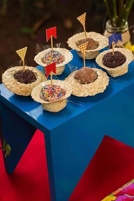 Porta doces para Festa Junina com Chapéu