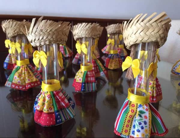 Tubetes decorados para São João