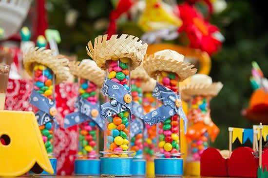 Decoração de Tubetes para Festa Junina