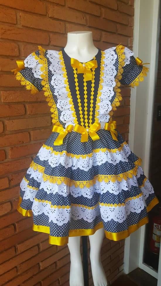 20 inspirações para Vestidos Juninos Infantil