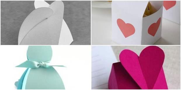 Lindas caixas de papel com moldes