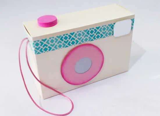 Lembrancinha de papel - Máquina fotográfica