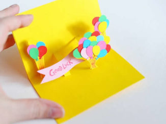 Lindo cartão de papel 3D