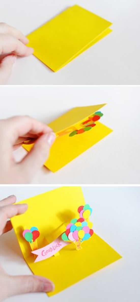 Cartão de papel 3D para fazer com crianças