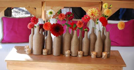 Garrafinhas para decoração