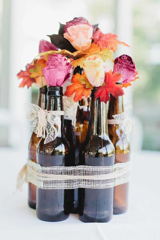 Dicas para decoração com garrafas de vidro